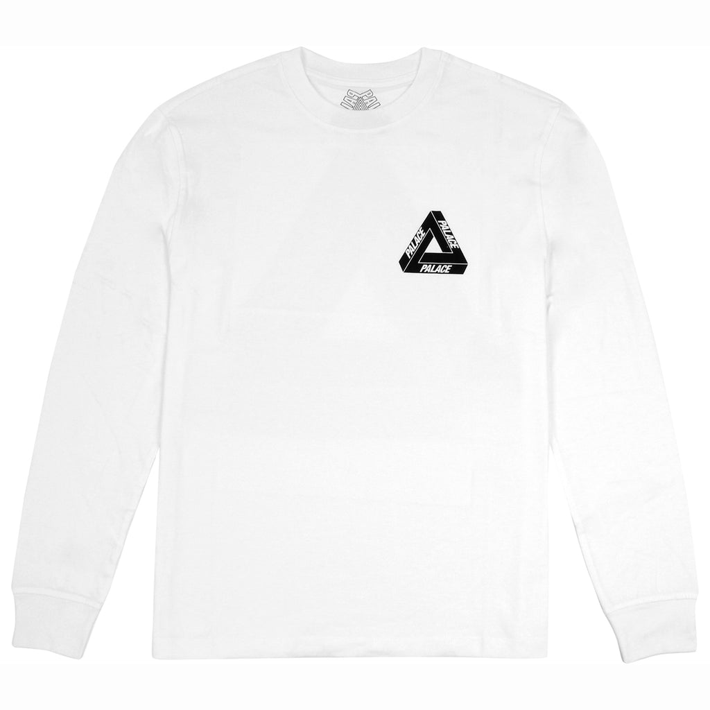 Palace Drury Italia L/S T Shirt in White - Front