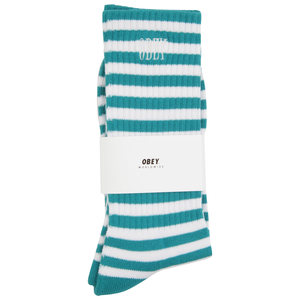 Obey Clothing Dale Socks in Pine / White - Detail
