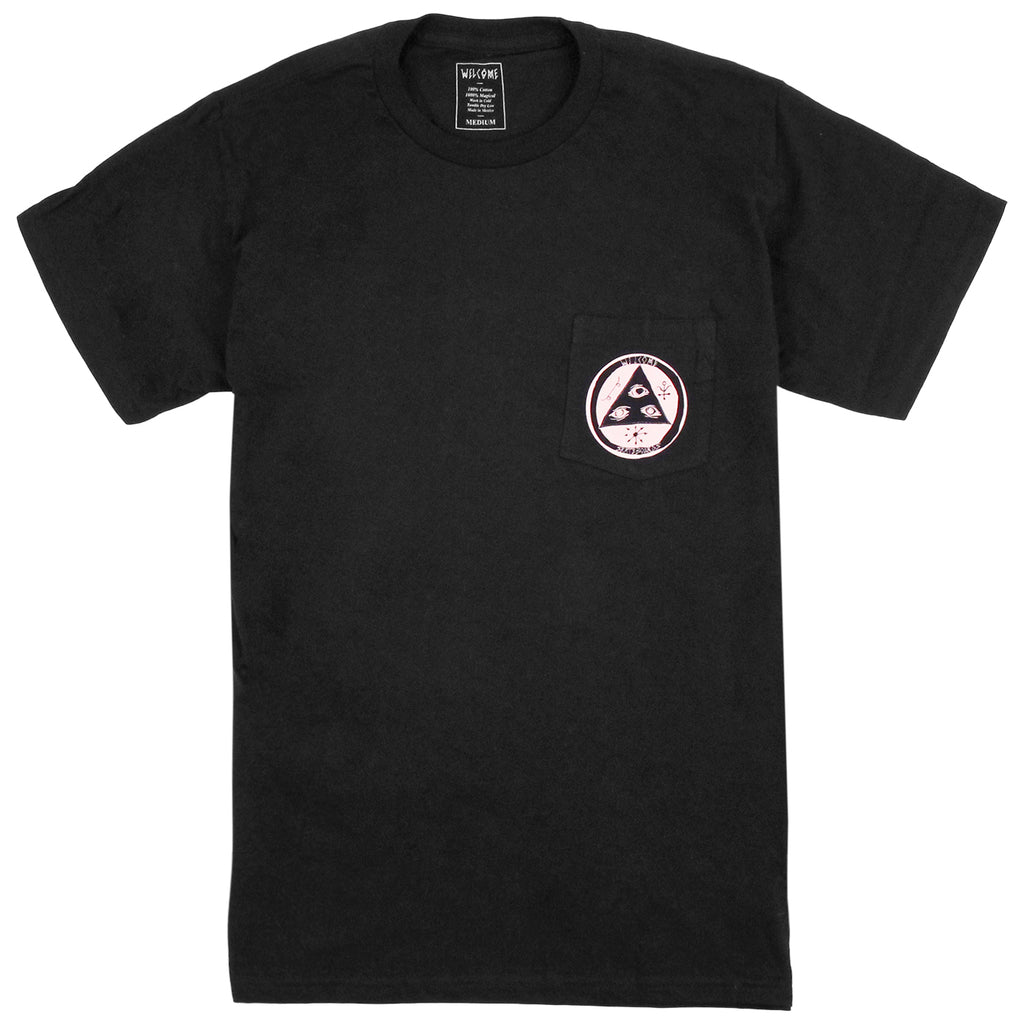 Welcome Skateboards Crinker Pocket T Shirt in Black