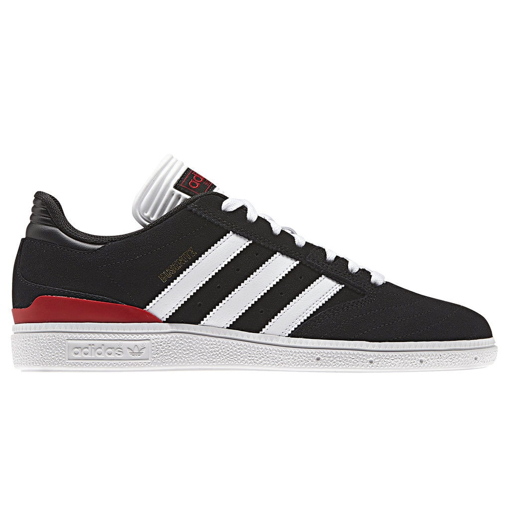 Adidas Busenitz Shoes in Core Black / Footwear White / Scarlet