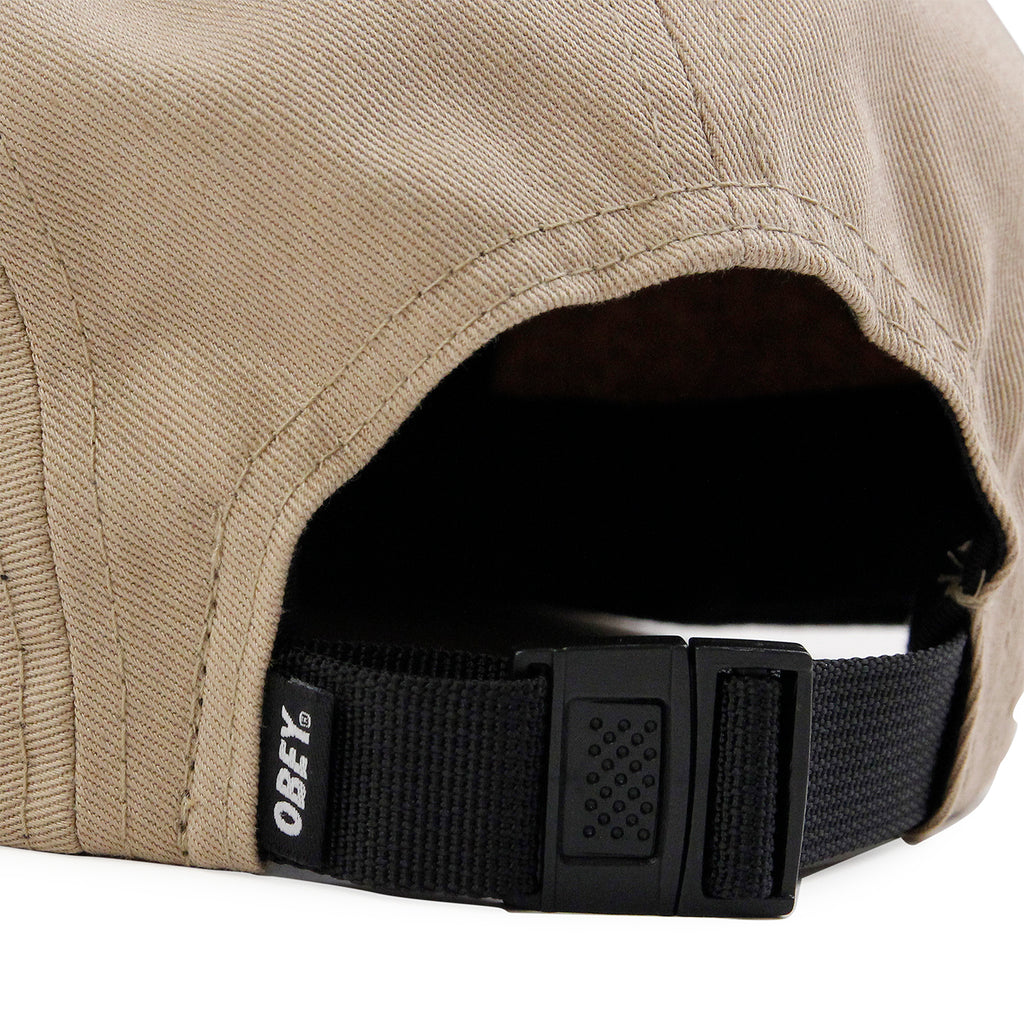 Obey Clothing Icon 5 Panel Cap in Khaki - Strap