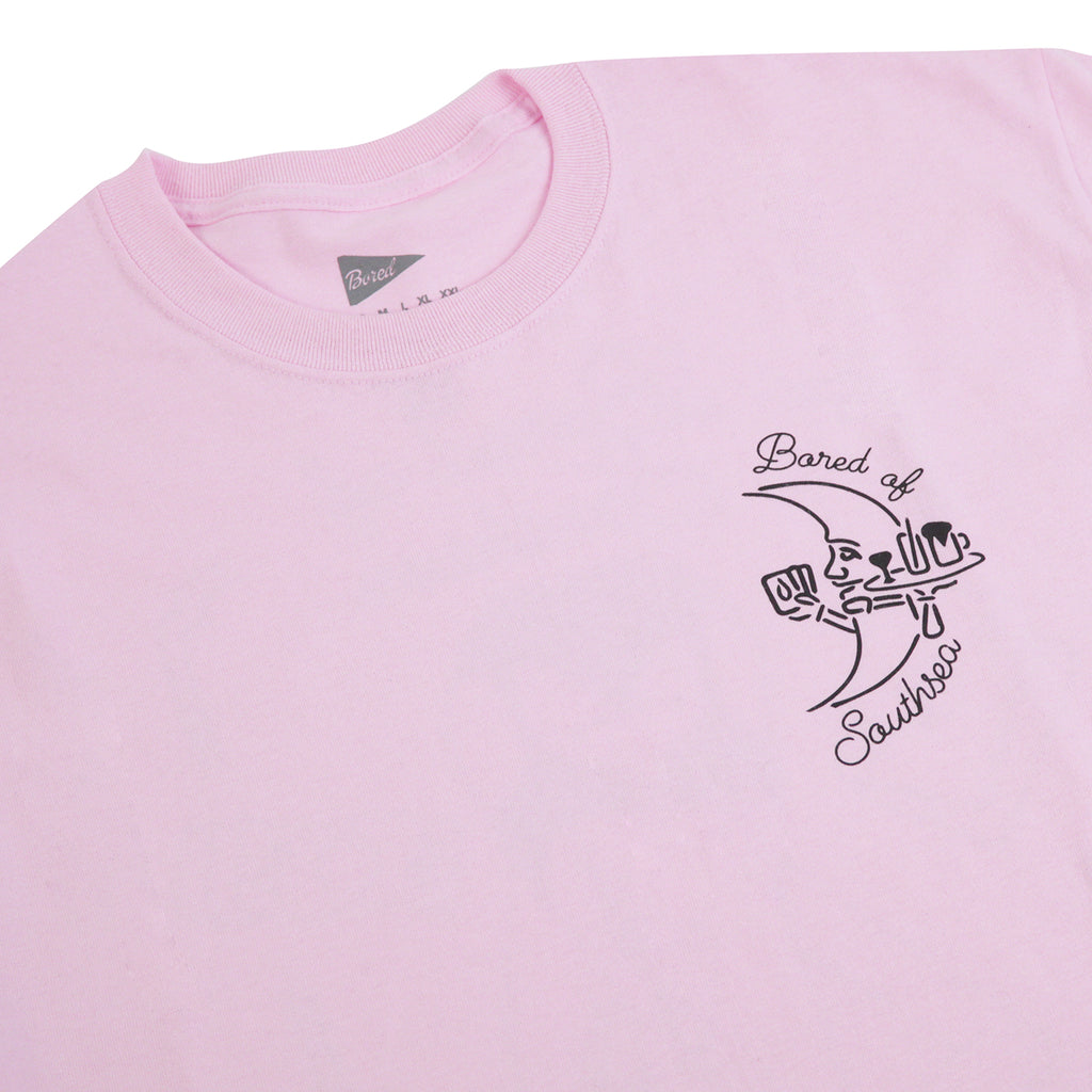 Bored of Southsea Gentlemen's Club T Shirt in Light Pink - Front detail