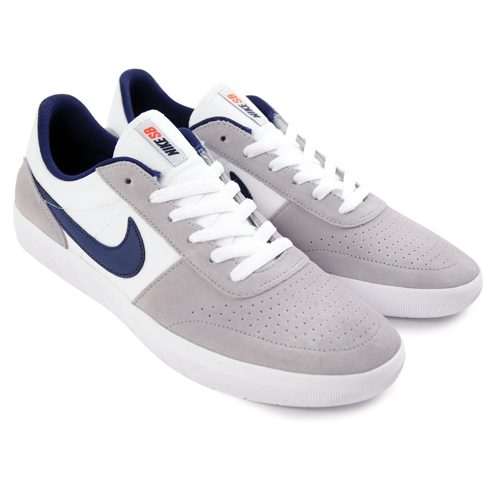 c85311358093 Nike SB Team Classic Shoes in Wolf Grey   Blue Void - White - Team Orange