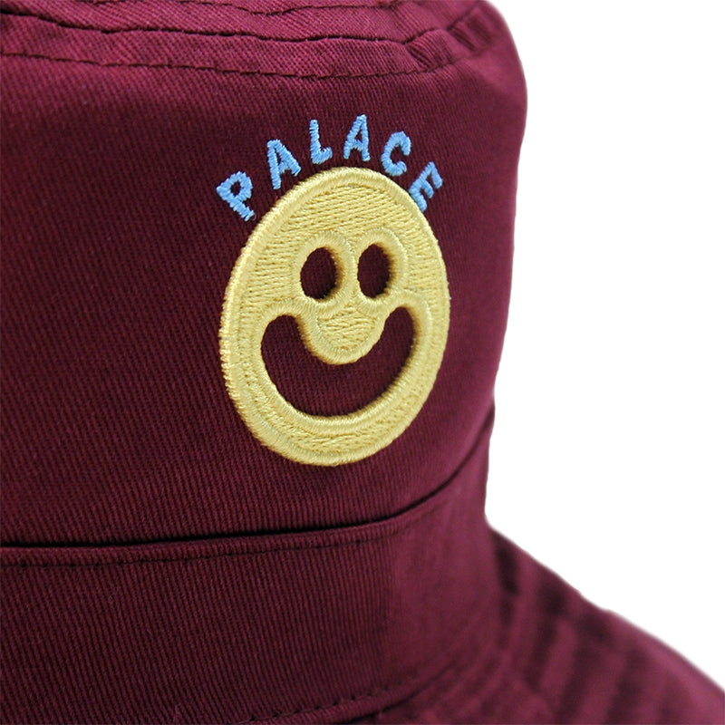 Palace Smiler Bucket Hat in Cordovan - Logo