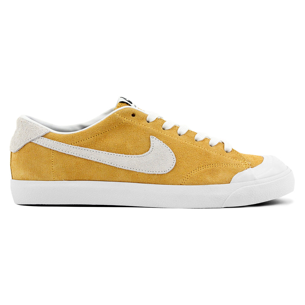 Nike SB Zoom All Court CK Shoes in University Gold / Summit White - Black