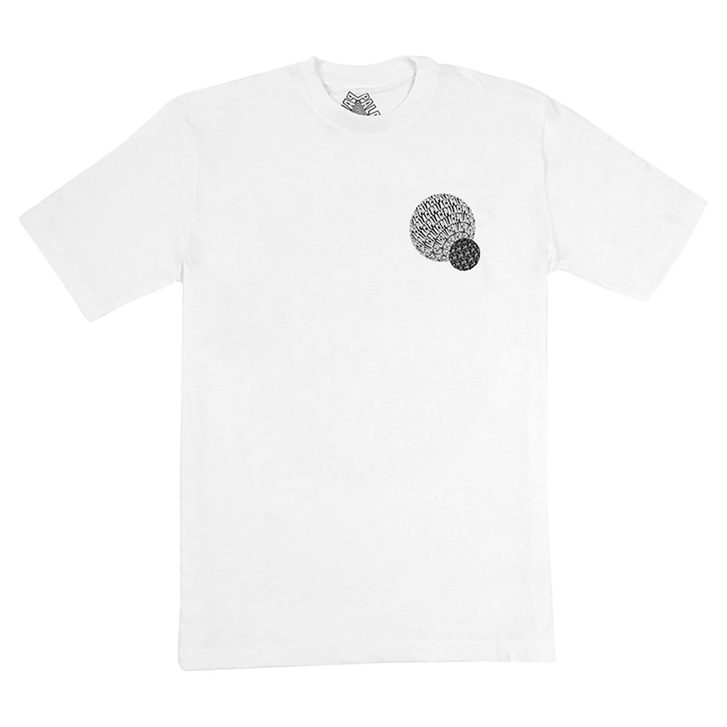 Palace If You Ain't There T Shirt in White - Front