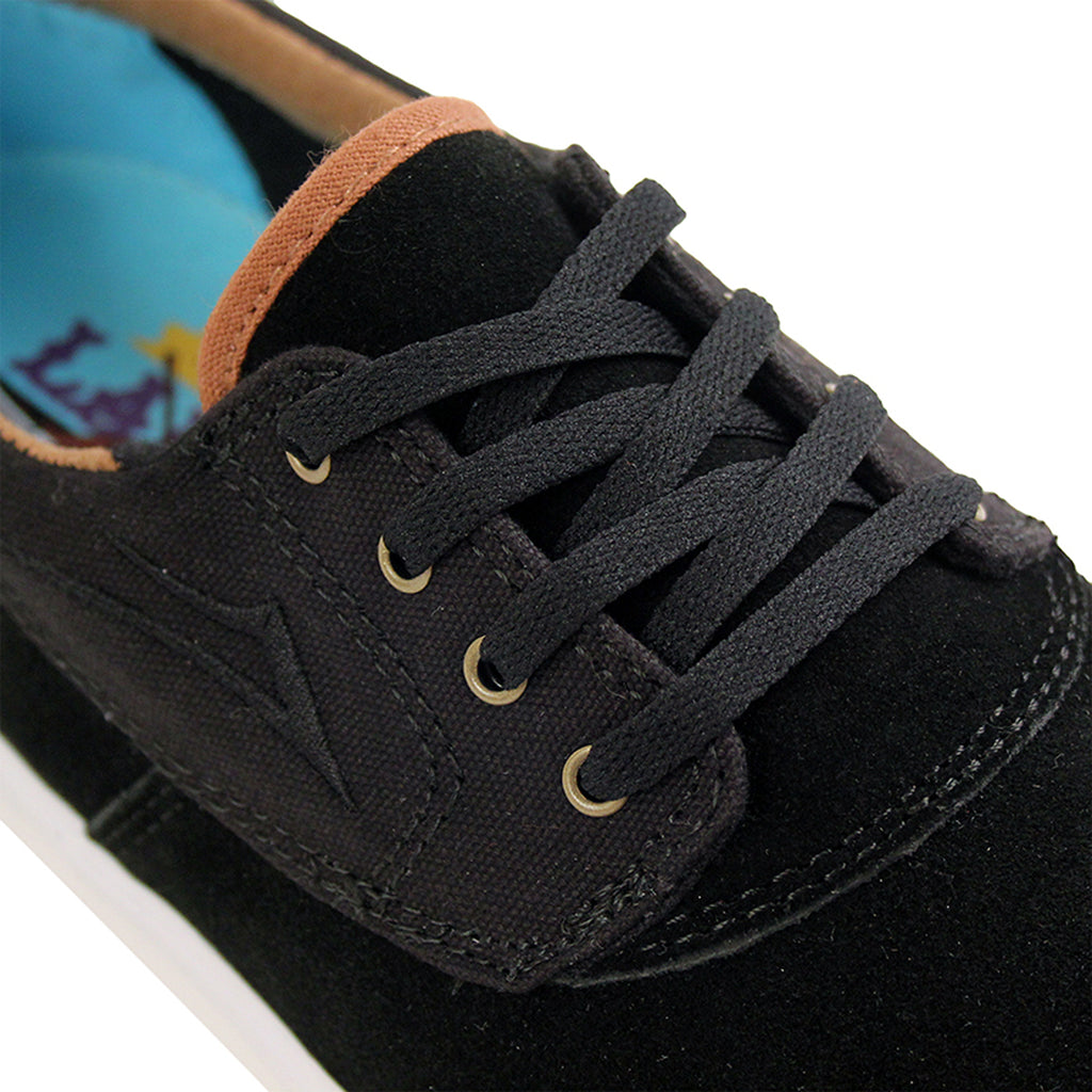 Lakai Camby Nesser (Anchor) Shoes in Black Suede - Detail