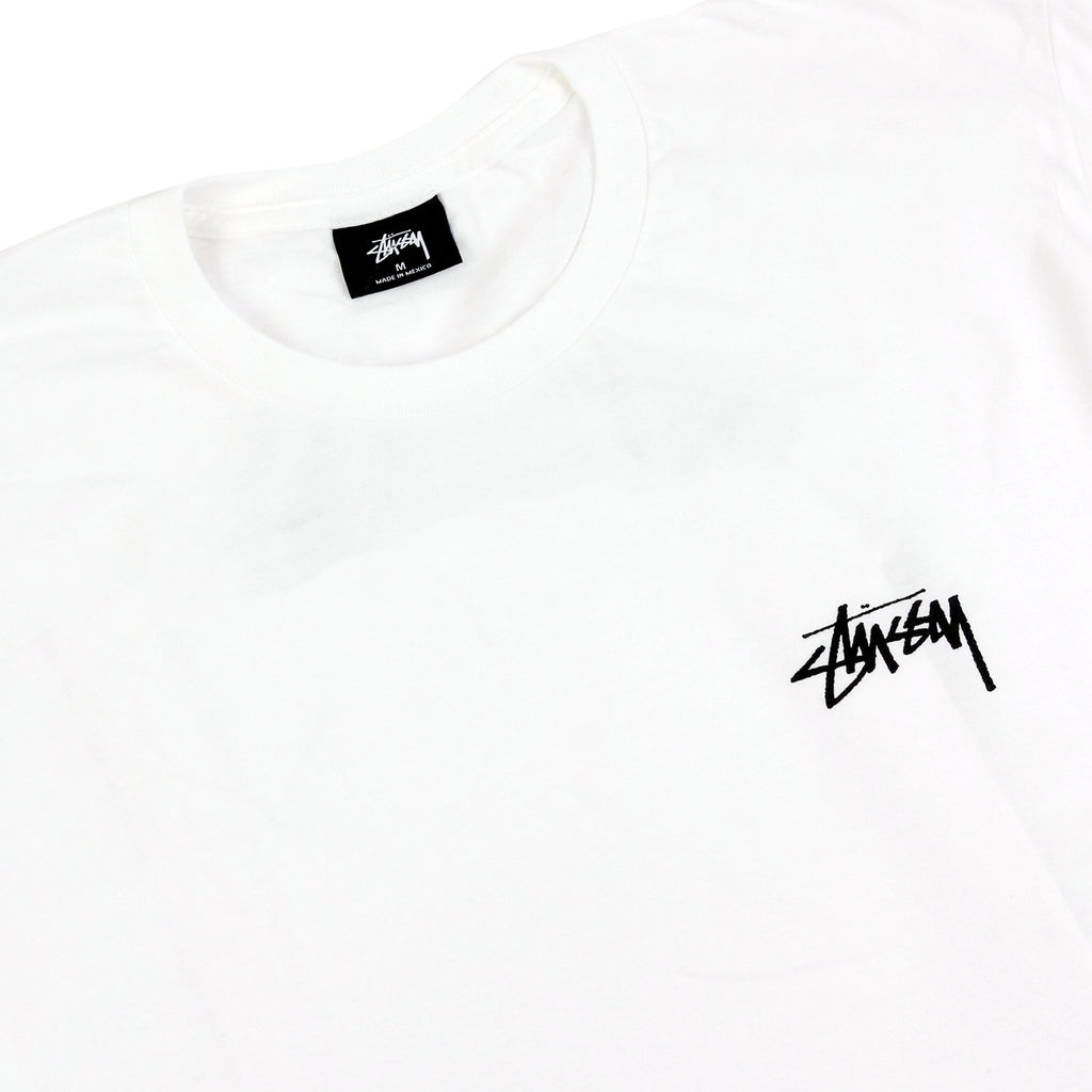 Stussy Tidal S T Shirt in White - Detail