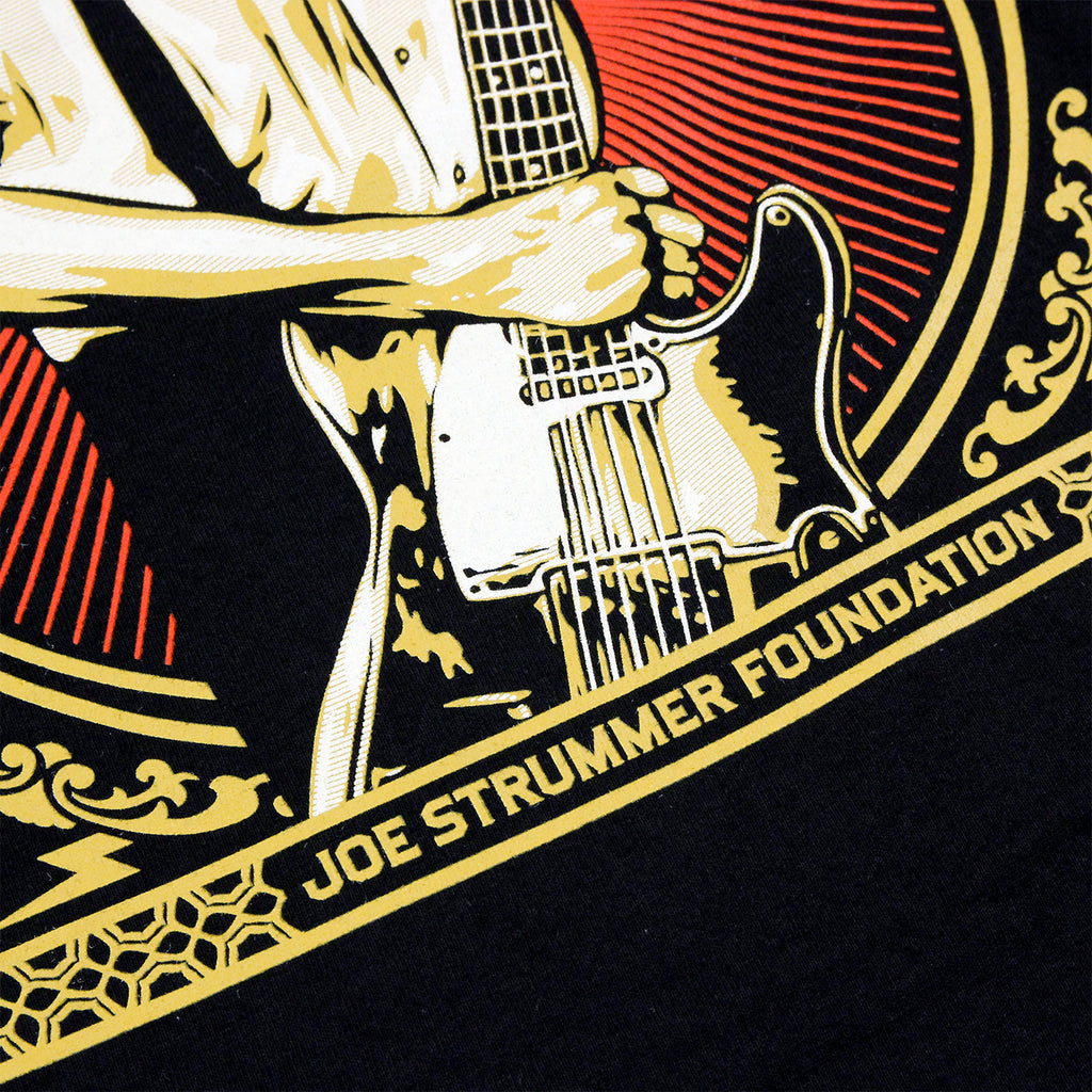 Obey Clothing Joe Strummer Foundation T Shirt in Black - Print 2