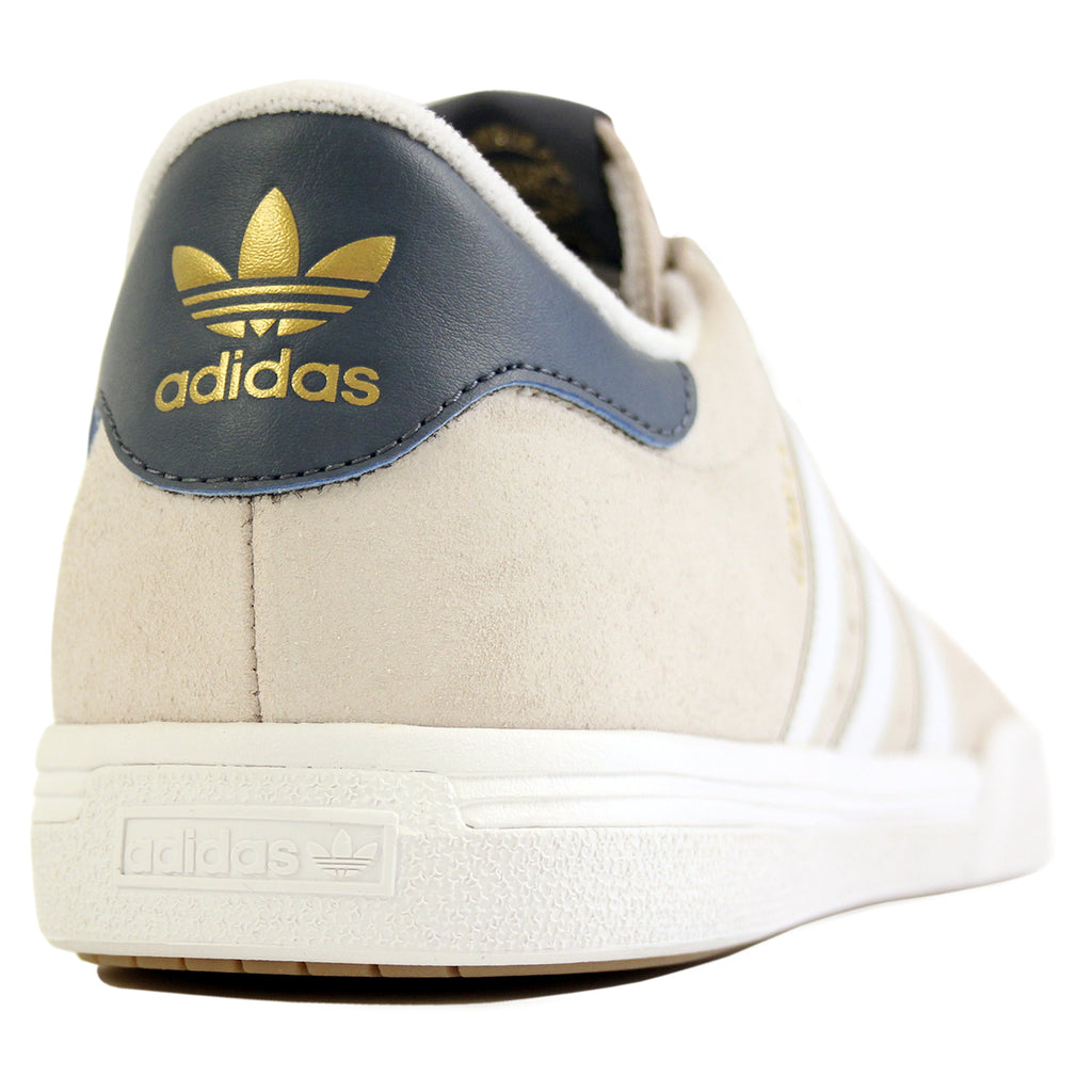 Adidas Skateboarding Lucas ADV Shoes in Footwear White/Mist Stone/Fade Ink - Heel