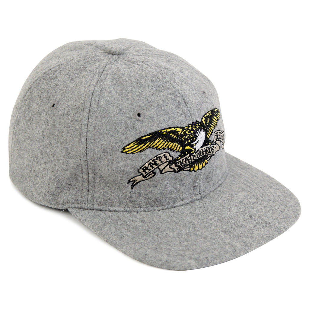 4c432a4af5a7c Eagle 6 Panel Snapback Cap in Heather Grey by Anti Hero Skateboards ...