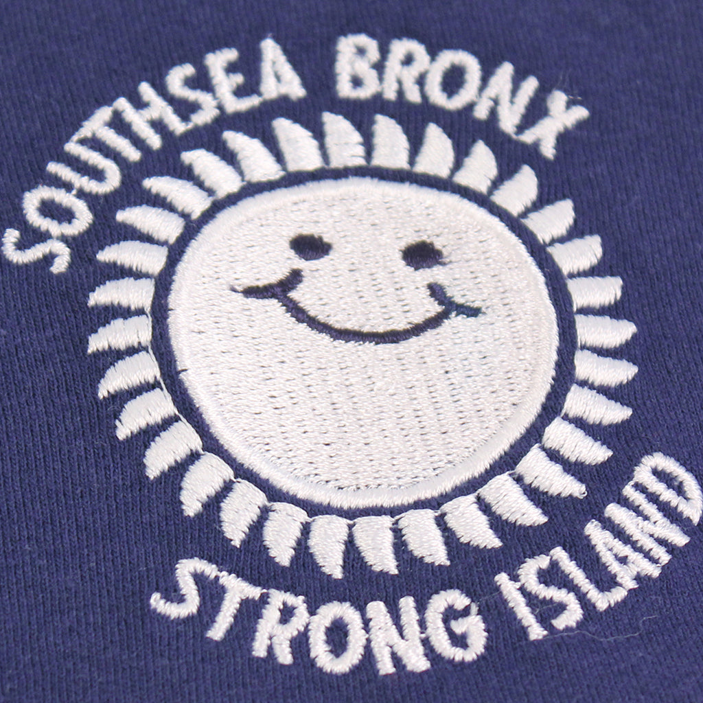 Southsea Bronx Strong Island Football T Shirt in Navy / White - Embroidery