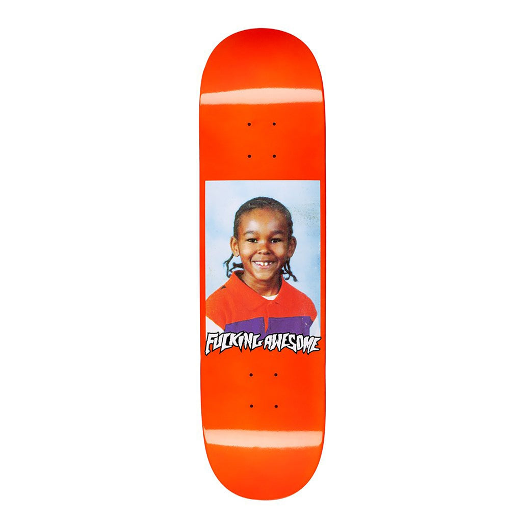 Fucking Awesome Na-Kel Class Photo Dipped Orange Skateboard Deck in 8.25""