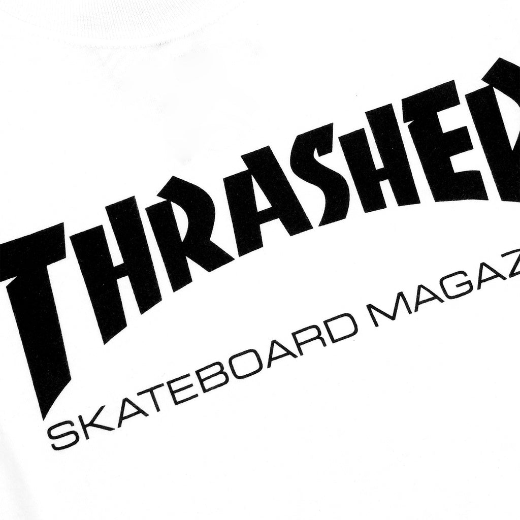 Thrasher Mag Logo L/S T Shirt in White/Black - Print detail