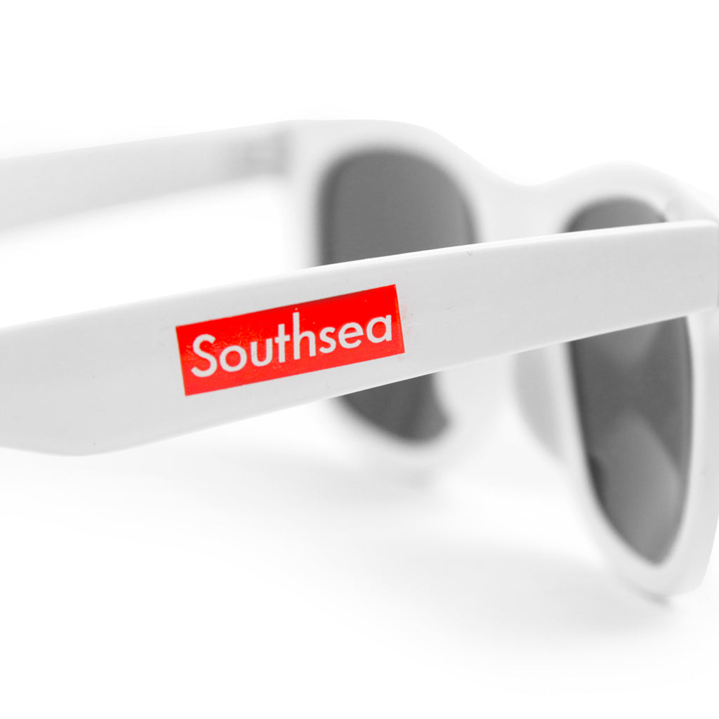 "Bored of Southsea ""Southsea"" Wayfarer Sunglasses in White - Side"