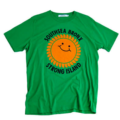 Southsea Bronx Strong Island T Shirt in Kelly Green
