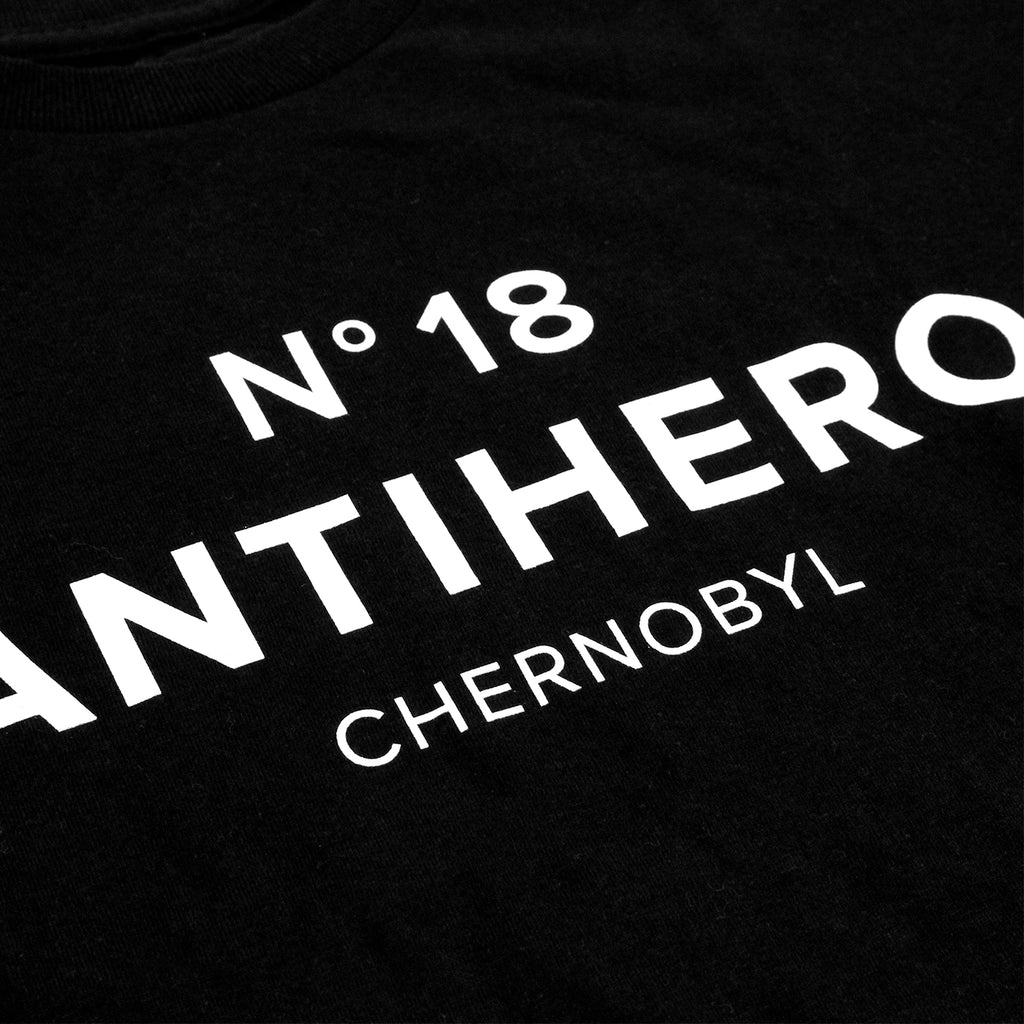 Anti Hero Skateboards Chernobyl Hero No. 18 T Shirt in Black - Detail 2