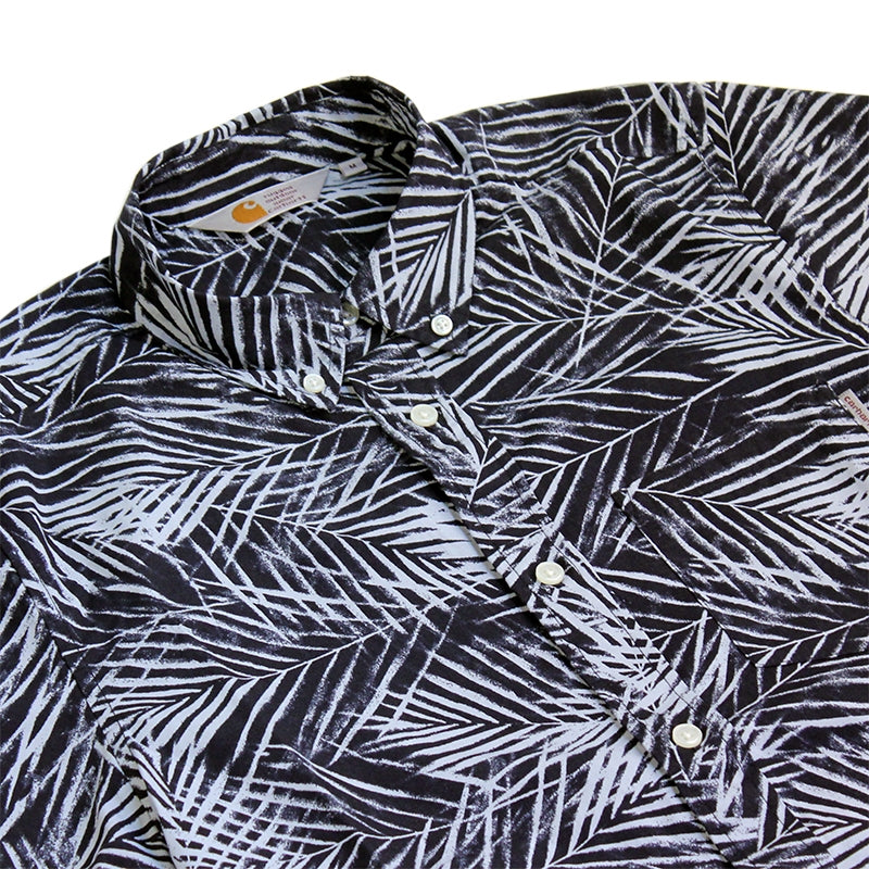 Carhartt WIP Cayman S/S Shirt in Paper Palm Print - Detail