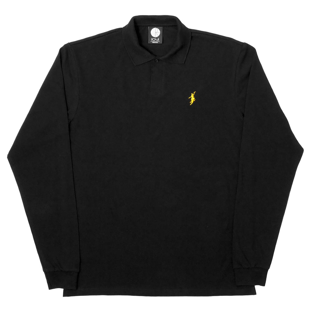 Polar Skate Co No Comply Pique Shirt in Black