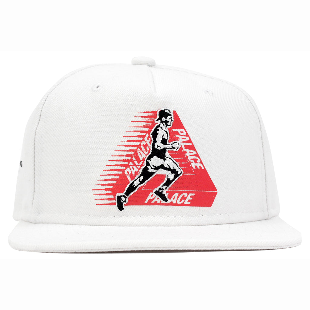 Palace Running Tings Snapback Hat in White - Front