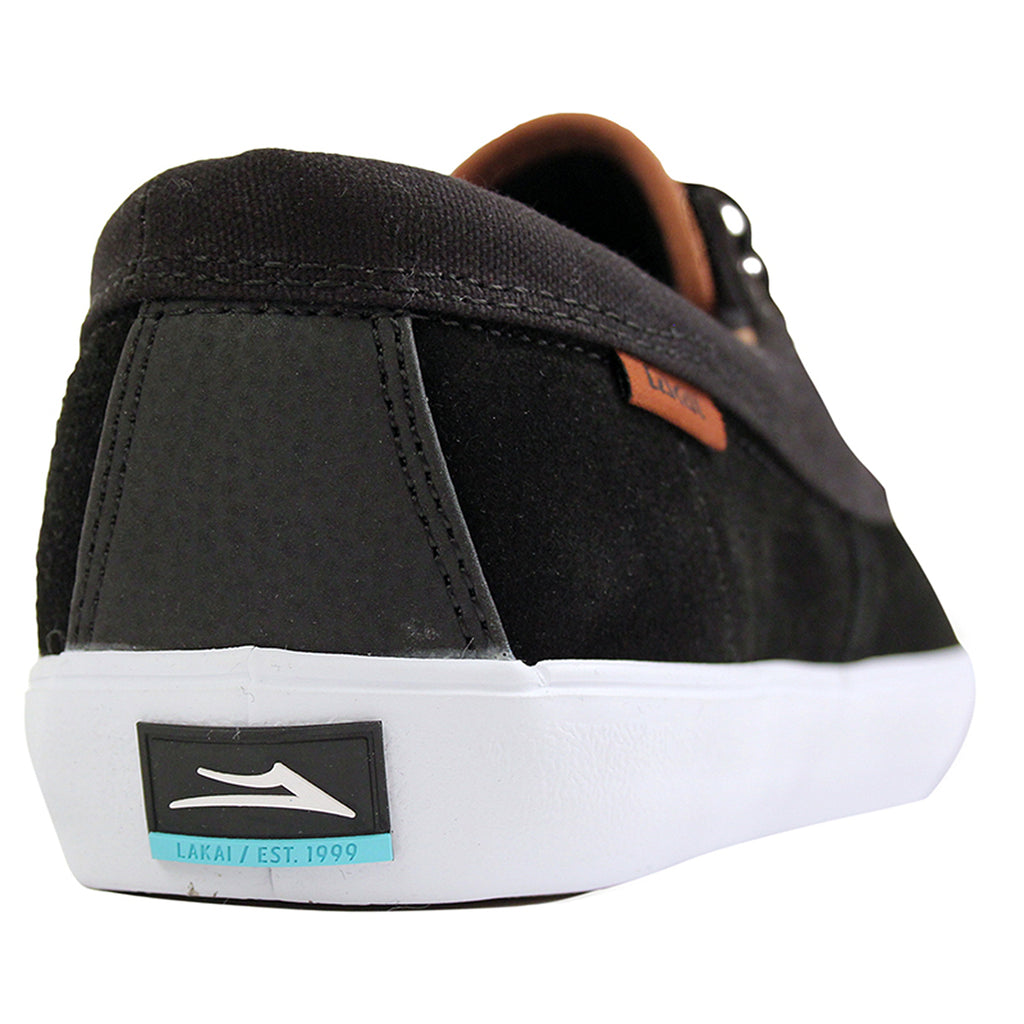 Lakai Camby Nesser (Anchor) Shoes in Black Suede - Heel