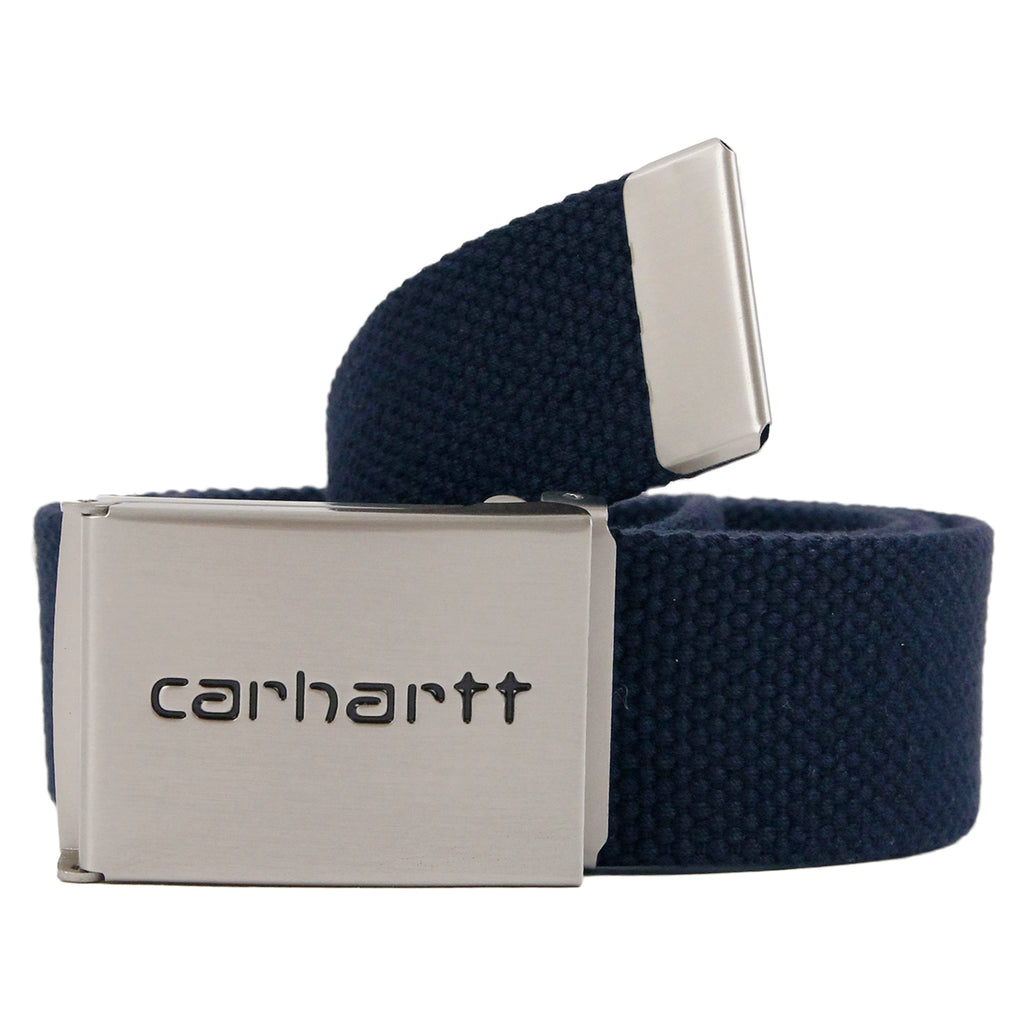 Carhartt Clip Belt Chrome in Dark Navy