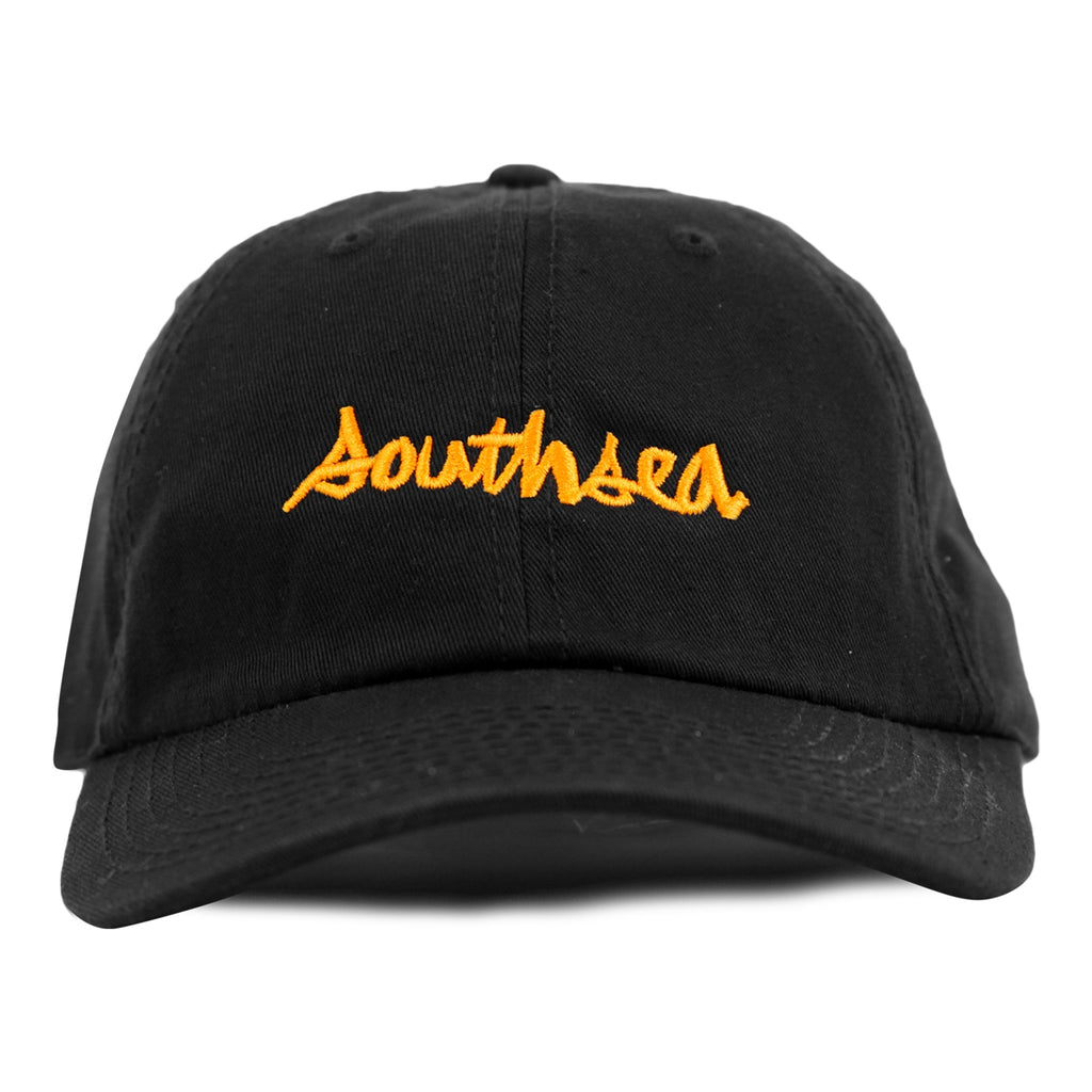 Bored of Southsea x Chocolate Skateboards Chunk The World Dad Cap in Black - Detail