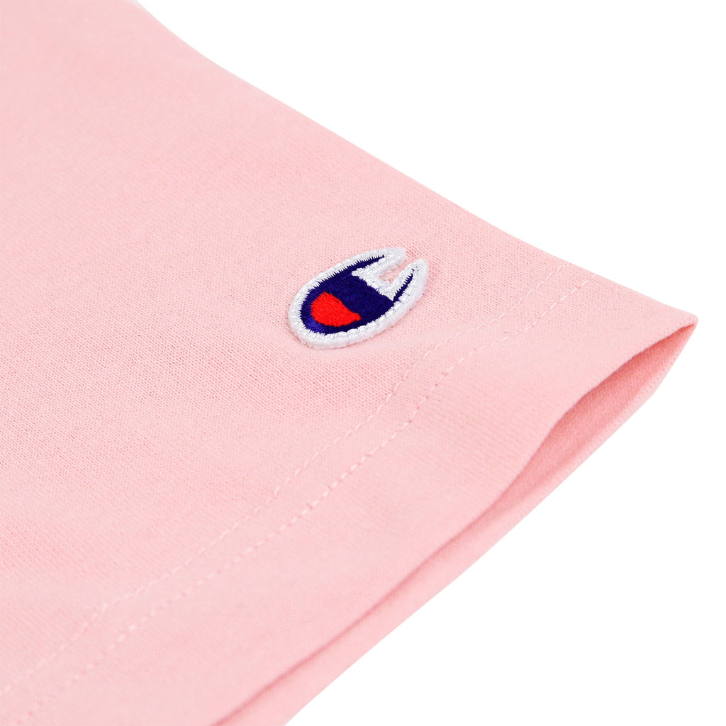 Champion Reverse Weave Classic T Shirt in Pink - Patch