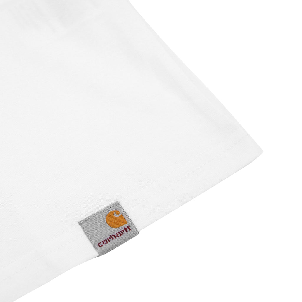 Carhartt C Tower T Shirt in White - Label