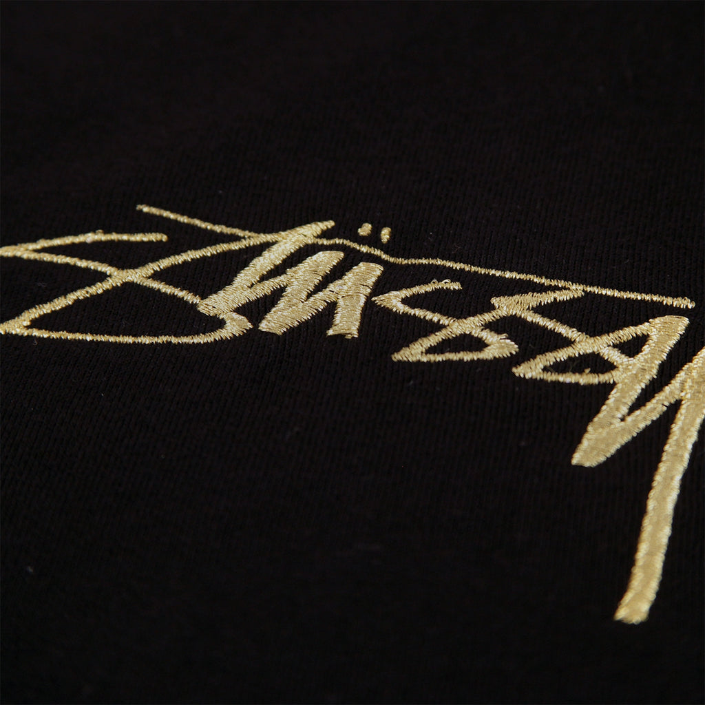 Stussy Smooth Stock T Shirt in Black - Embroidery