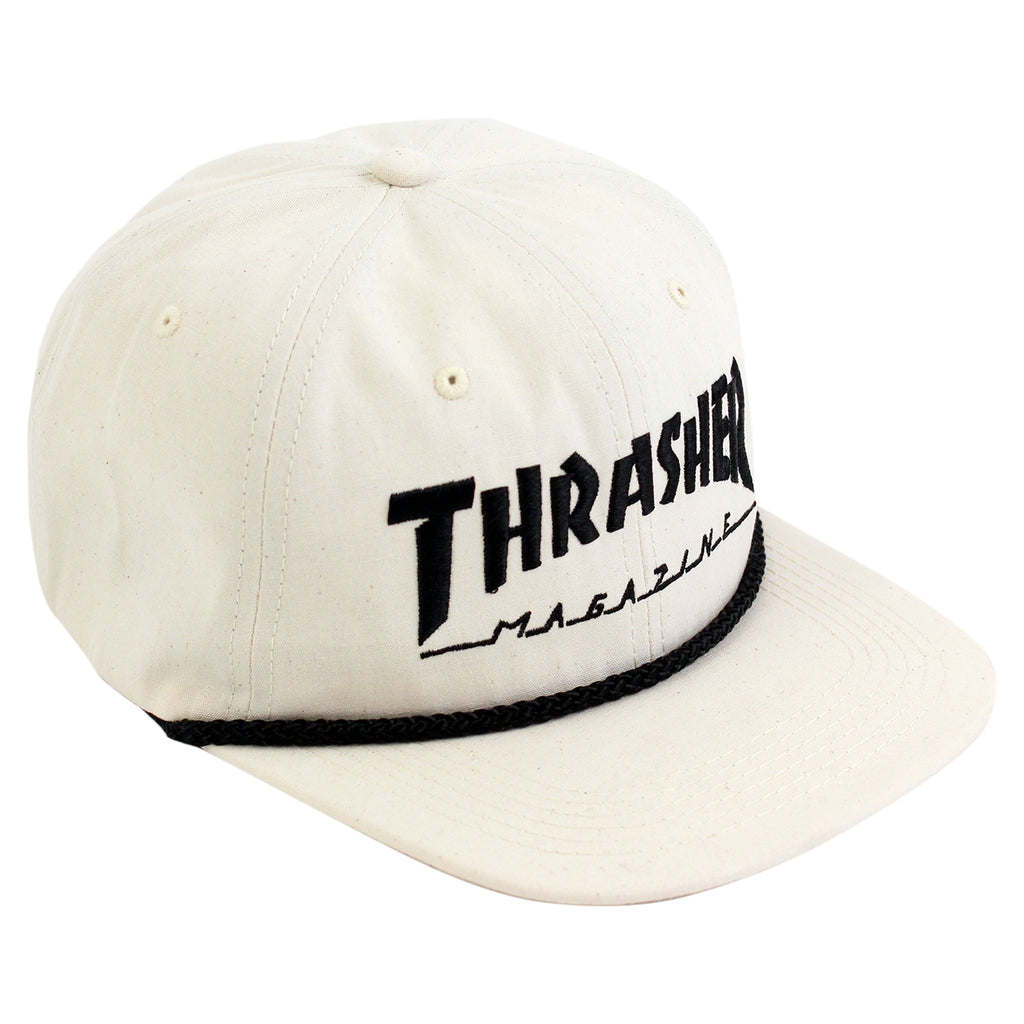 Thrasher Canvas Rope Cap in Natural