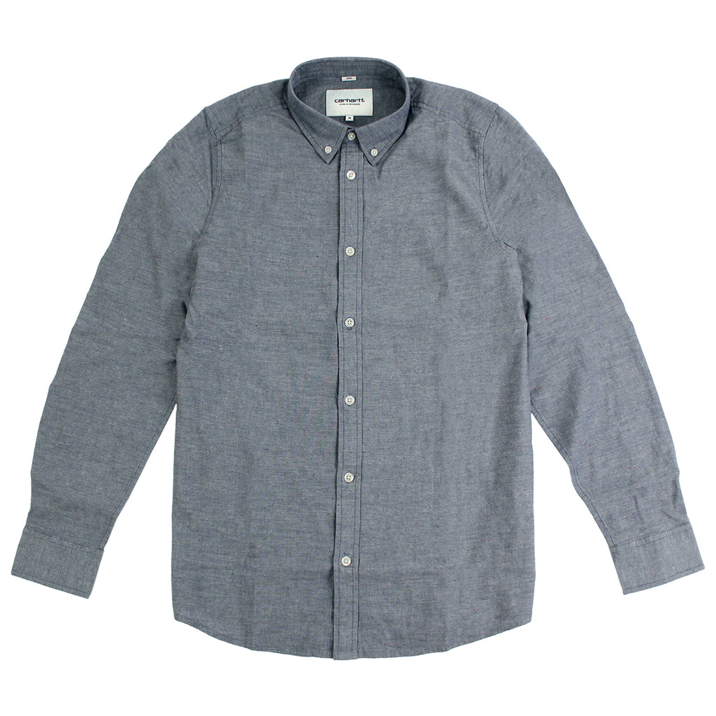 Carhartt WIP Kyoto L/S Shirt in Blue Stone Washed