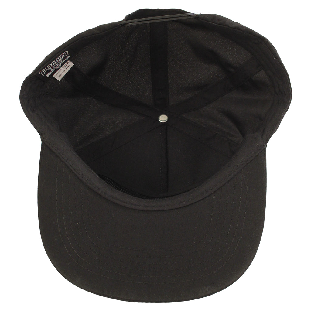 Thrasher Mousegoat Snapback Cap in Black - Inside