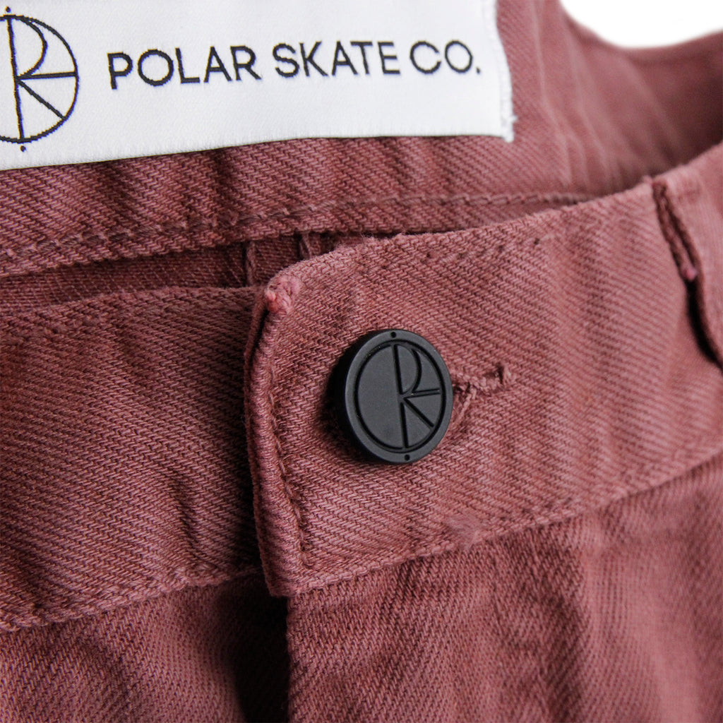 Polar Skate Co 90's Jeans in Washed Red - Button