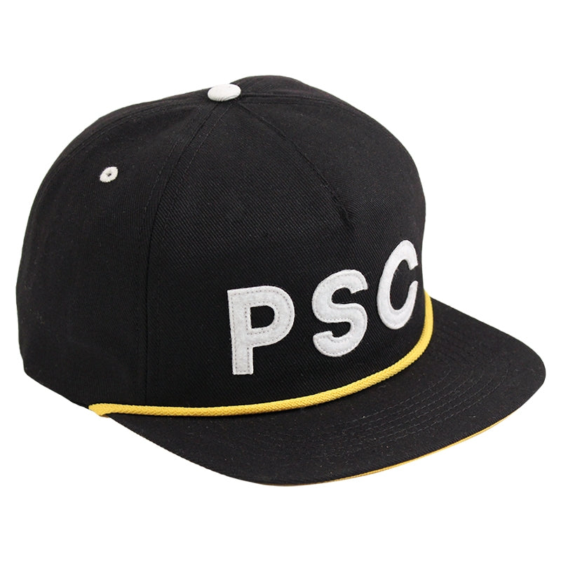 Polar Skate Co PSC Soft Snapback in Black / Yellow