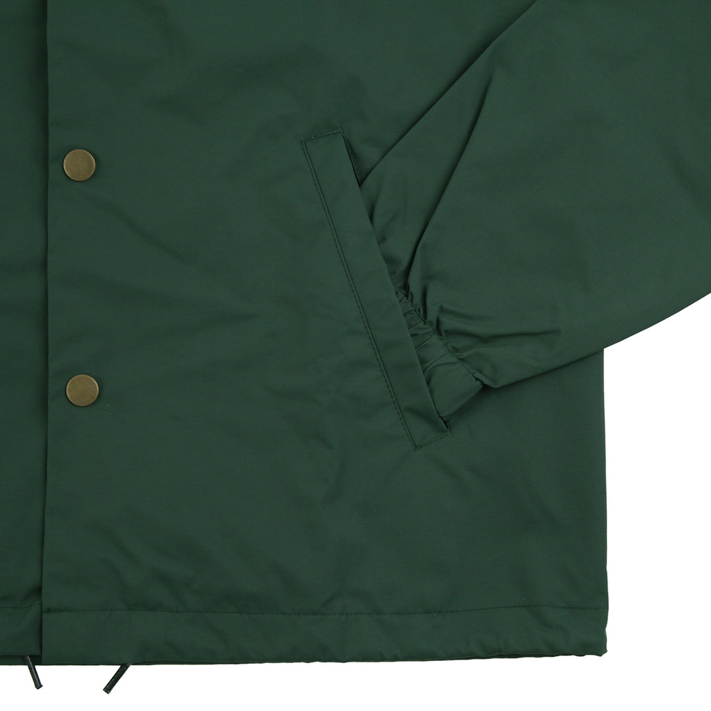 Bored of Southsea Anti Skate Club Coaches Jacket in Forest Green - Cuff