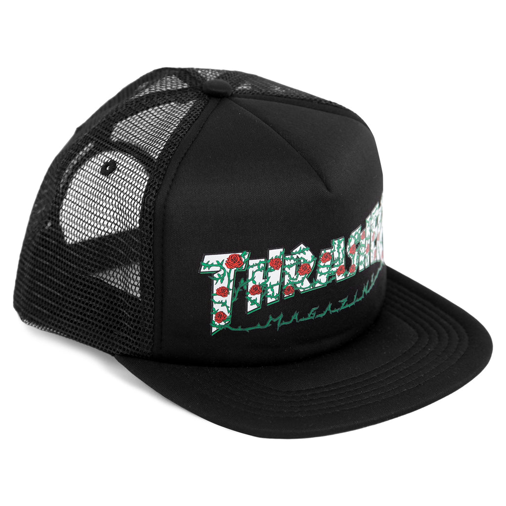 cbc19e7615a Roses Mesh Cap in Black by Thrasher