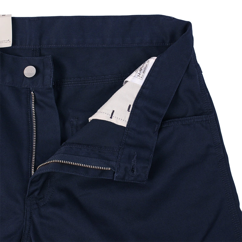Carhartt Skill Short in Duke Blue Rinsed - Zipper
