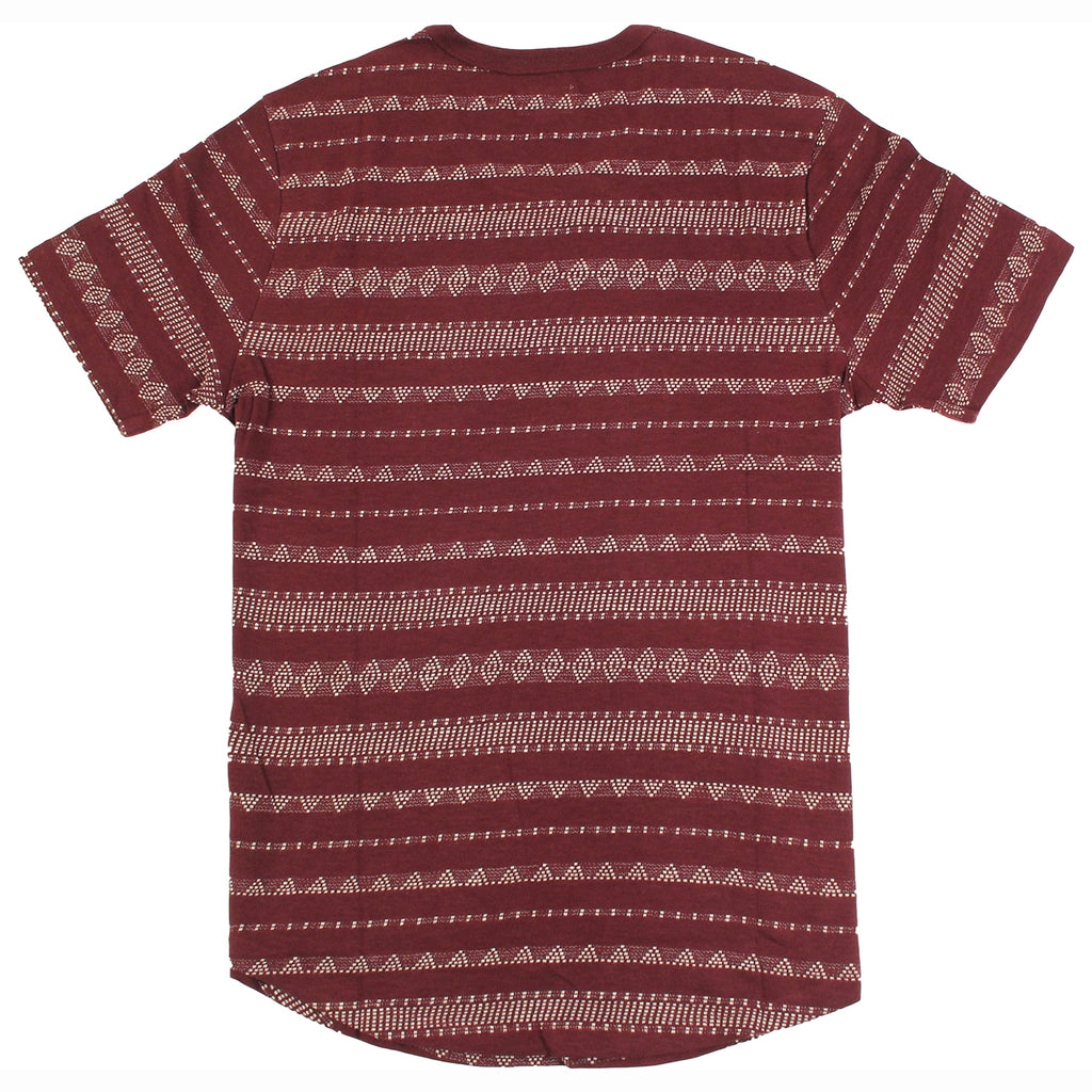 Obey Clothing Mateo T-Shirt in Burgundy - Back
