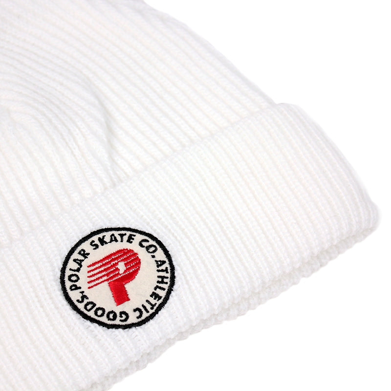 Polar Skate Co Harbour Beanie in White - Front