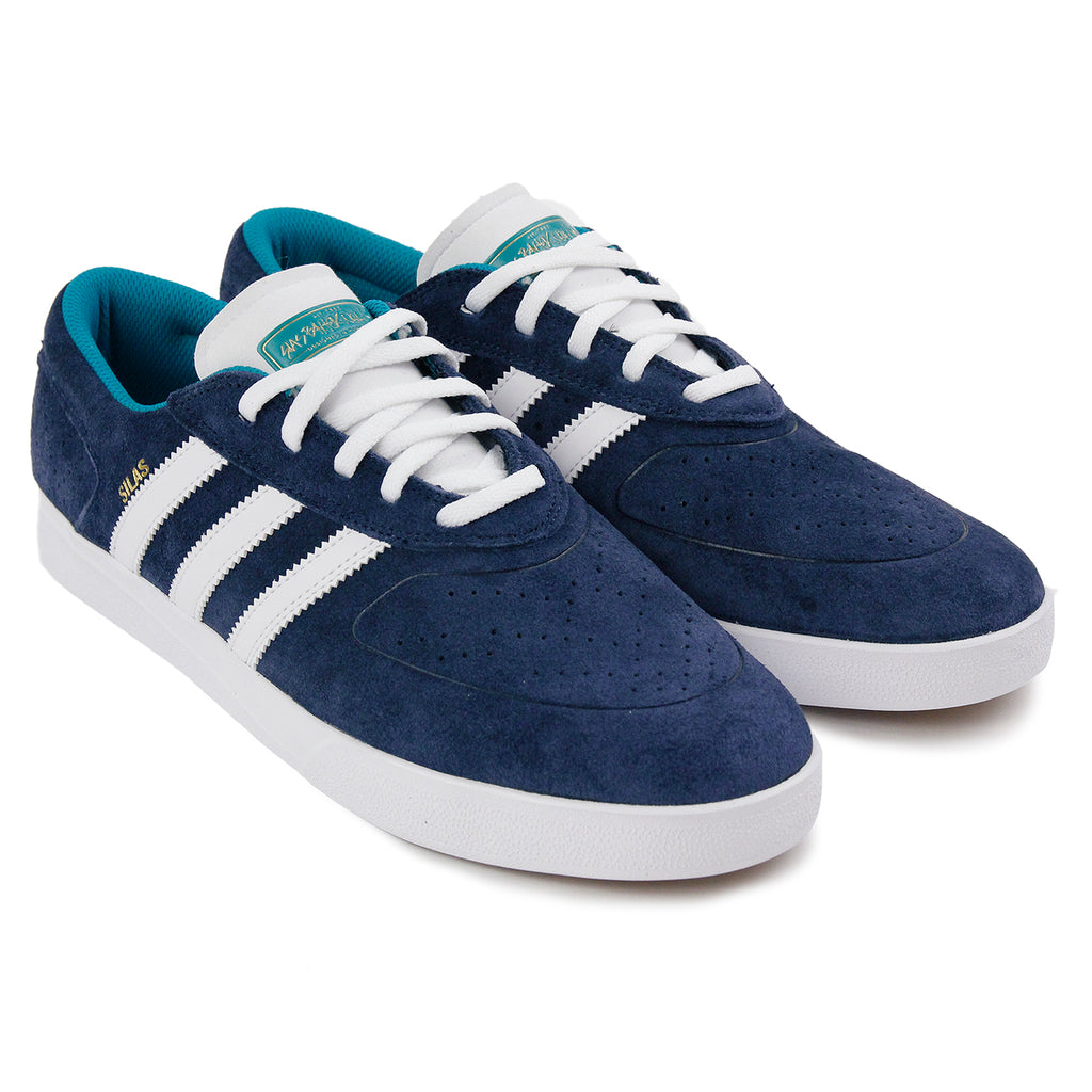 Adidas Skateboarding Silas Vulc ADV Shoes - Collegiate Navy / White /Gold MT - Pair