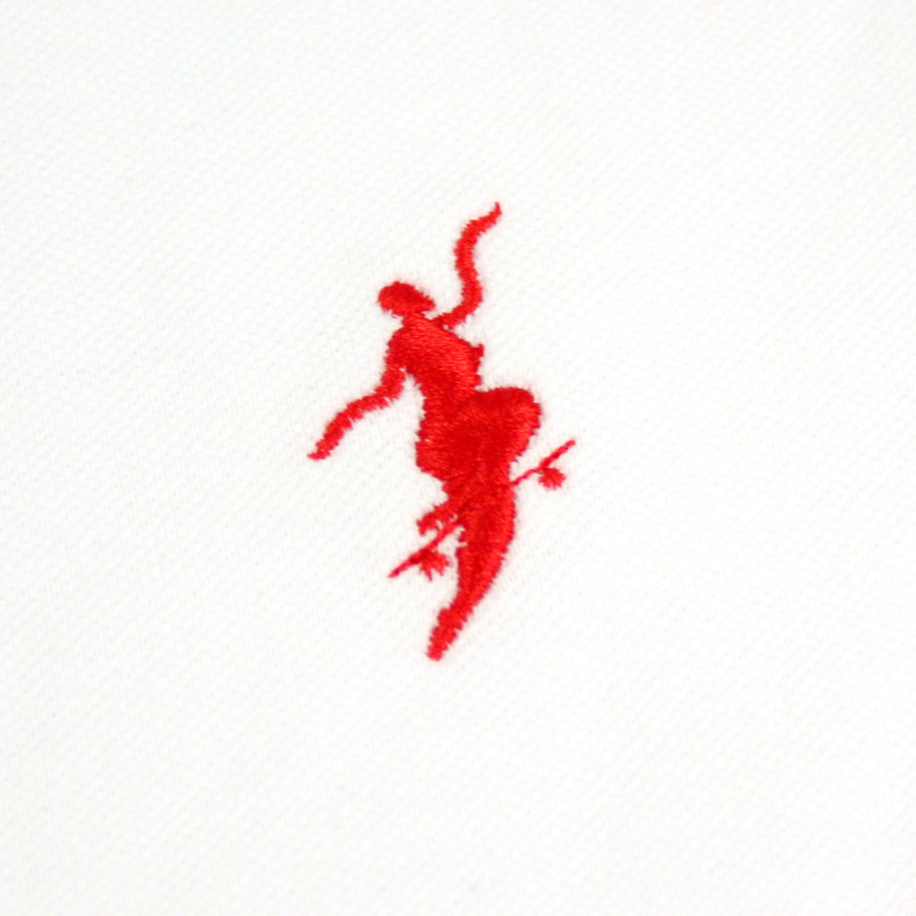 Polar Skate Co No Comply Pike T Shirt in White / Red - Embroidery