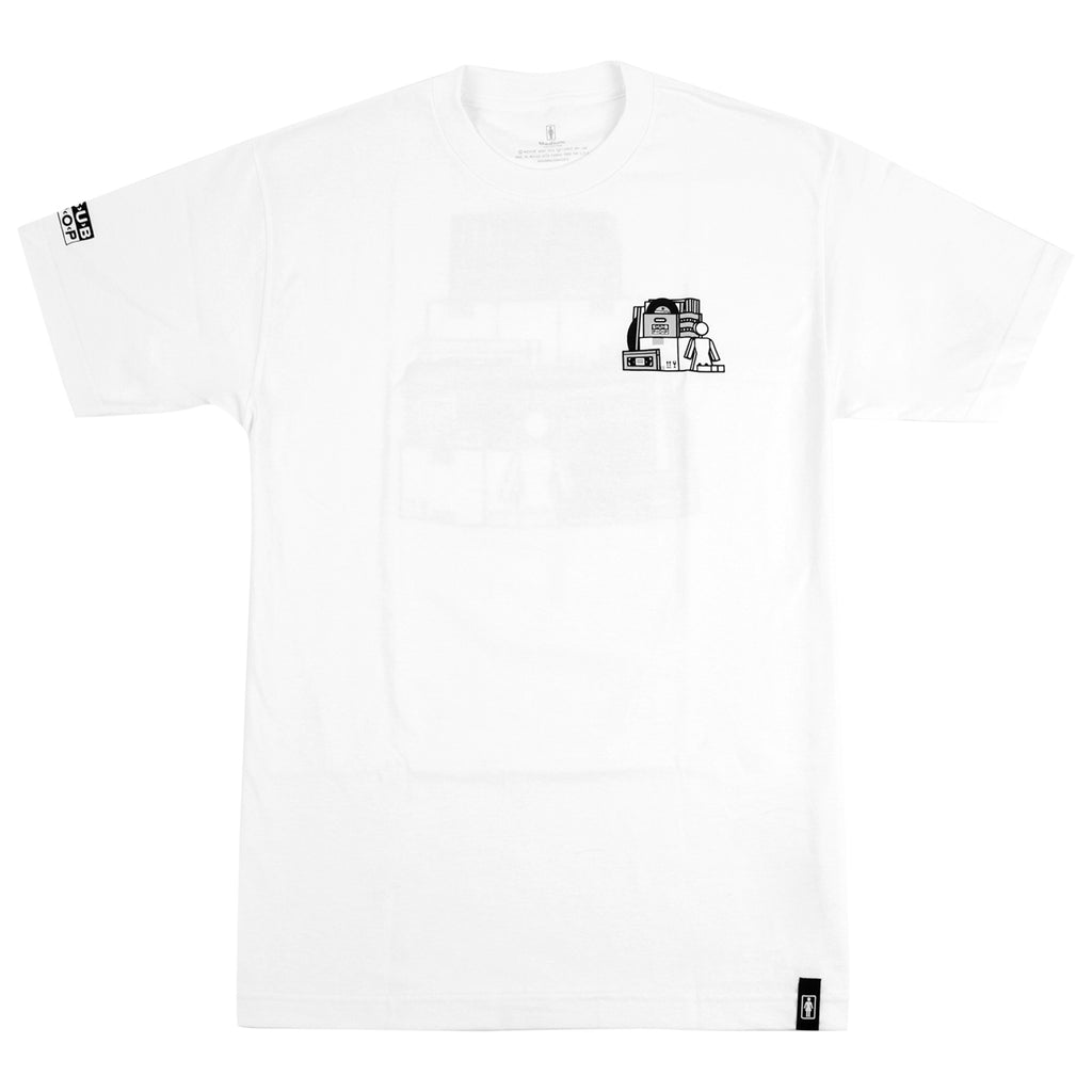 Girl Skateboards x Subpop Stacked T Shirt in White - Front