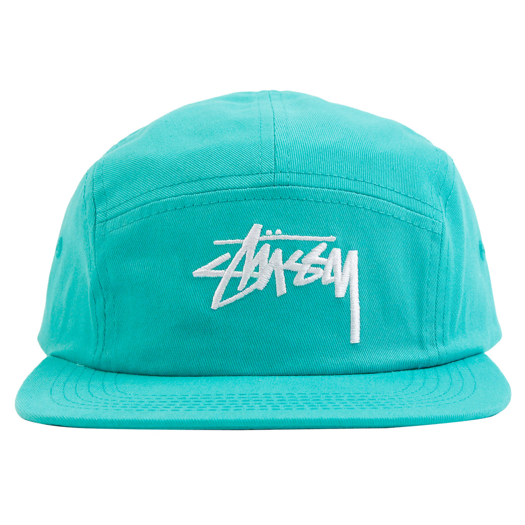 Stussy Stock 5 Panel Cap in Teal - Front