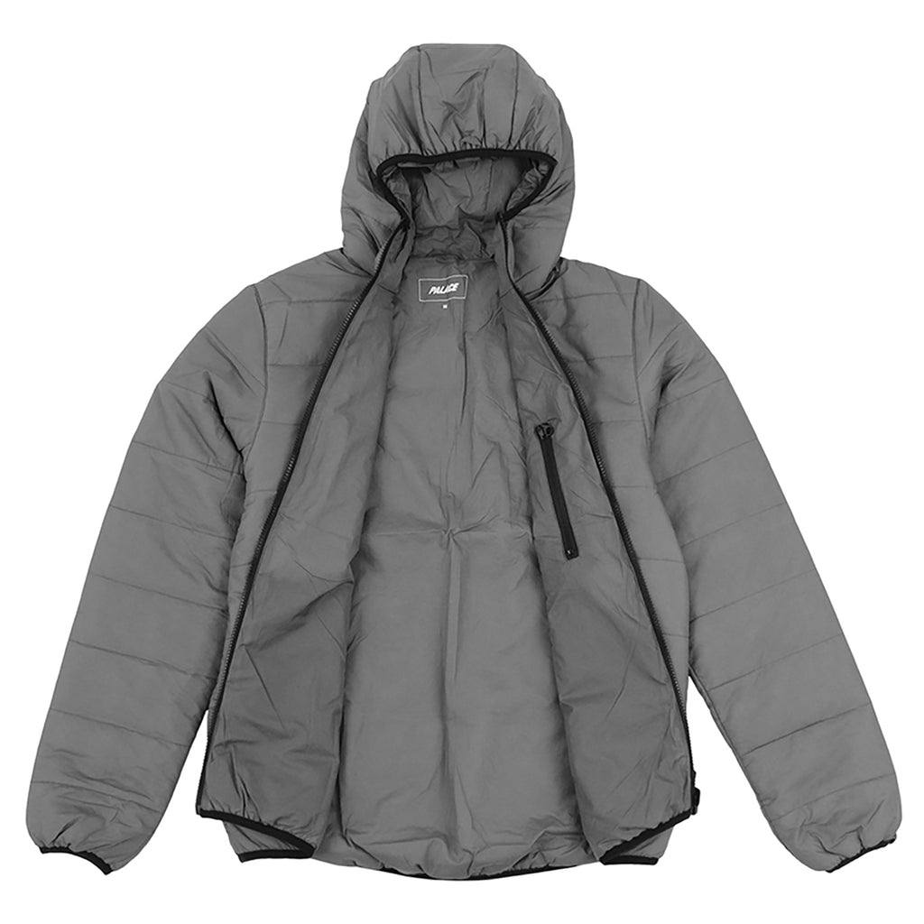 Palace Crink Thinsulate Jacket in Grey - Open