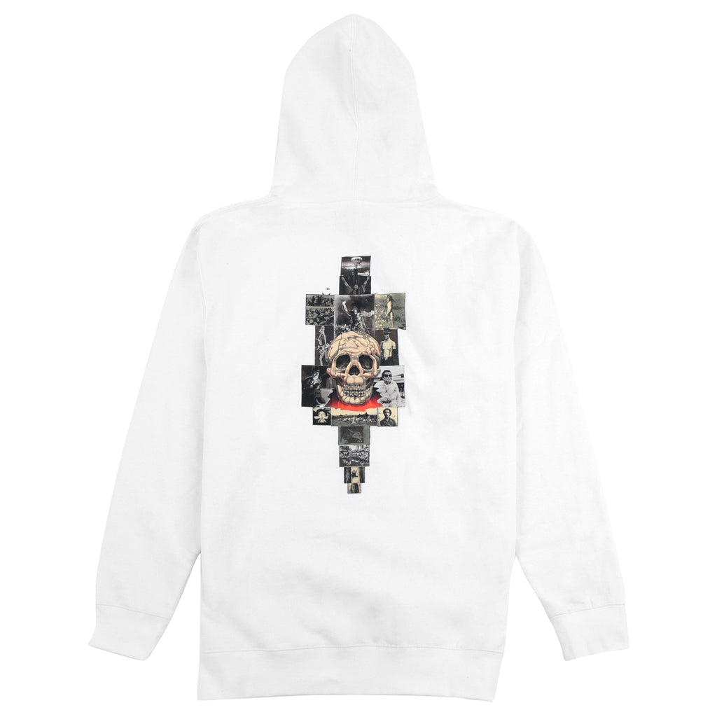 Fucking Awesome KB Collage Hoodie in White - Back