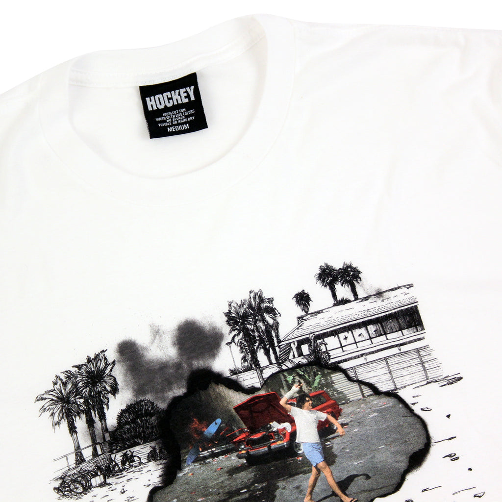 Hockey Skateboards Donny Surf Riot T Shirt in White - Detail