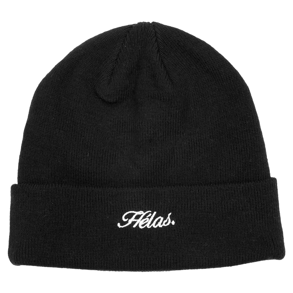 Helas Embroidered Beanie in Black
