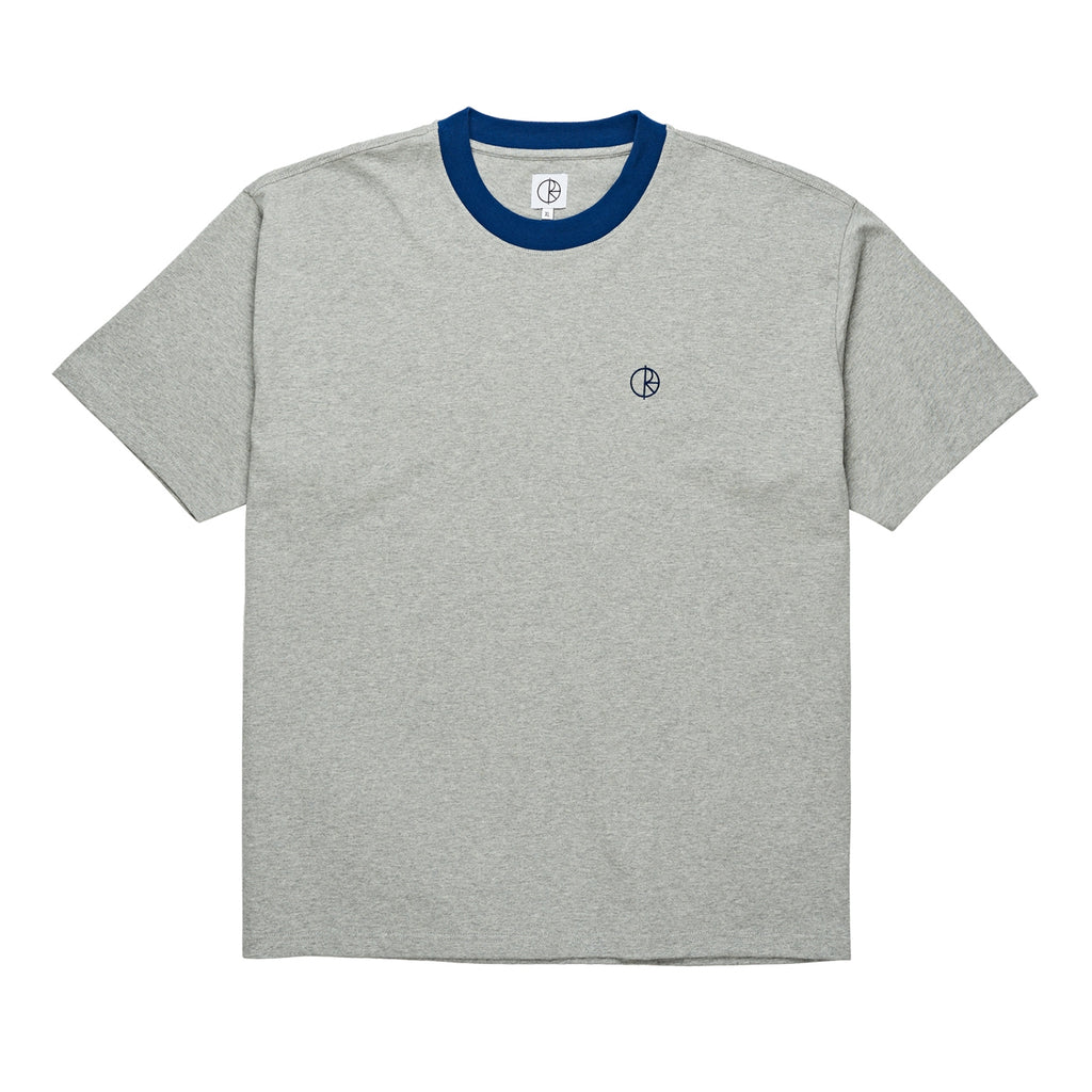 Polar Skate Co Ringer T Shirt in Heather Grey / Navy