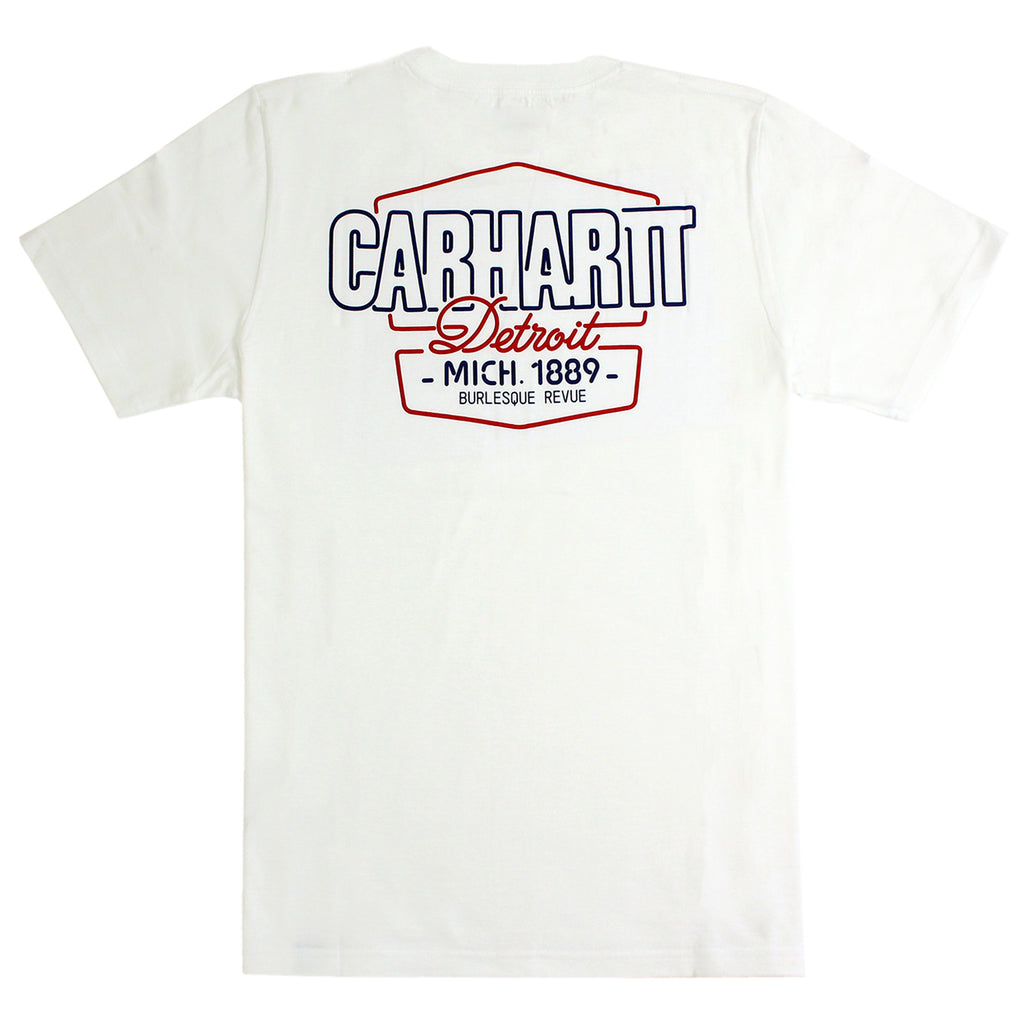 Carhartt WIP Burlesque T Shirt in White